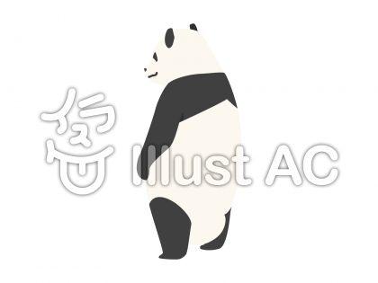 パンダ・後ろ姿(背景なし)