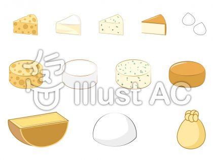 チーズの定番一覧!!イラスト