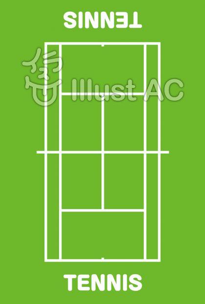 テニスコートイラスト無料イラストならイラストac