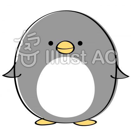 ゆるいペンギン にっこり笑顔イラスト , No 1085156/無料