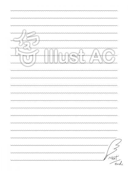 シンプル便箋テンプレートイラスト No 1135586無料イラストなら