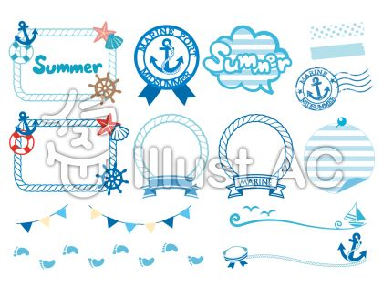 アンカー、ワッペン、スタンプ、ガーランド、ヨット、足跡、舵