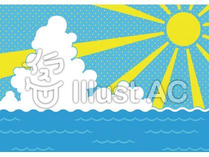海と太陽と雲