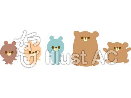 ゆるいクマのキャラクターイラストイラスト No 1198028無料イラスト