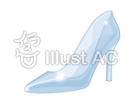ガラスの靴 シンデレラ ハイヒールイラスト , No 1206972/無料