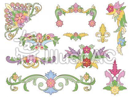 花のフレームセット2