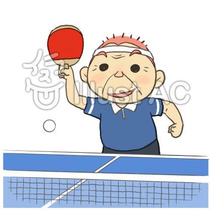シニアの卓球_男性