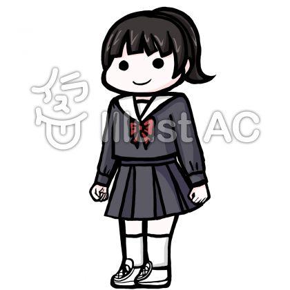 入学卒業学生服のイラスト素材ブログやyoutubeでセーラー服