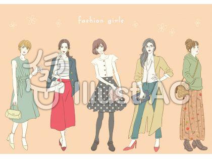 ファッションイラスト/無料イラストなら「イラストAC」