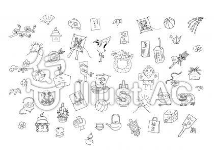 手描きの年賀状素材セット